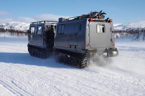 Upp på fjället gällde bandvagn eller snöskoter